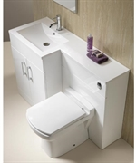 Genesis Monica 1-Piece Basin & WC Top Combination. (White Finish)