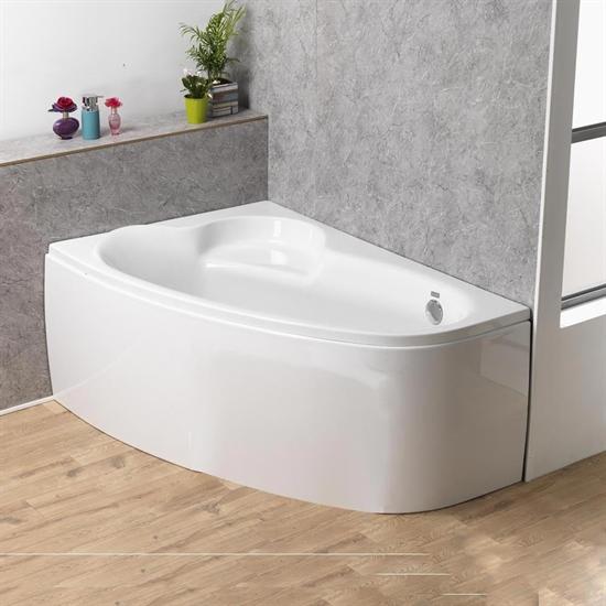 Offset Corner Bath & Panel (Superspec) - 1500 x 1000mm