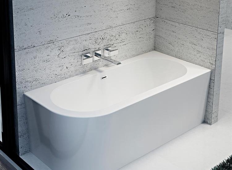 Como Freestanding Offset Corner Bath 1700 X 750mm