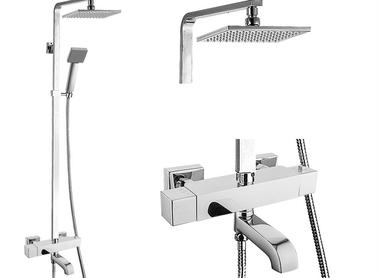 Nevada Thermostatic Bar Shower Valve, Slider Kit & Spout