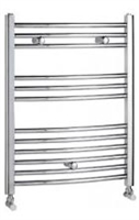 Revive Towel Rail 400mm x 800mm Chrome Curved Including Solid Chrome Valves