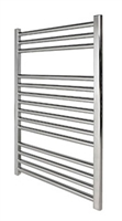 Revive Towel Rail 500 x 1200 Chrome Flat Including Solid Chrome Valves