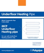 Polypipe MCP Underfloor Heating 16mm x 80m Pipe Coil Metal Composite Pipe  MCP8016B