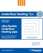 Polypipe Solid, Floating And Suspended Floors 15mm x 500m Barrier Pipe Coil   UFH50015B