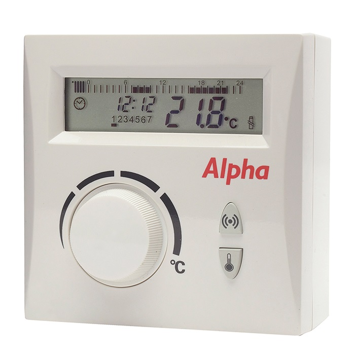 Alpha time clock | 24 hour mechanical easystat | wireless single.