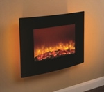 Be Modern 25 Quattro Wall mounted Electric Fire Black Glass-35130