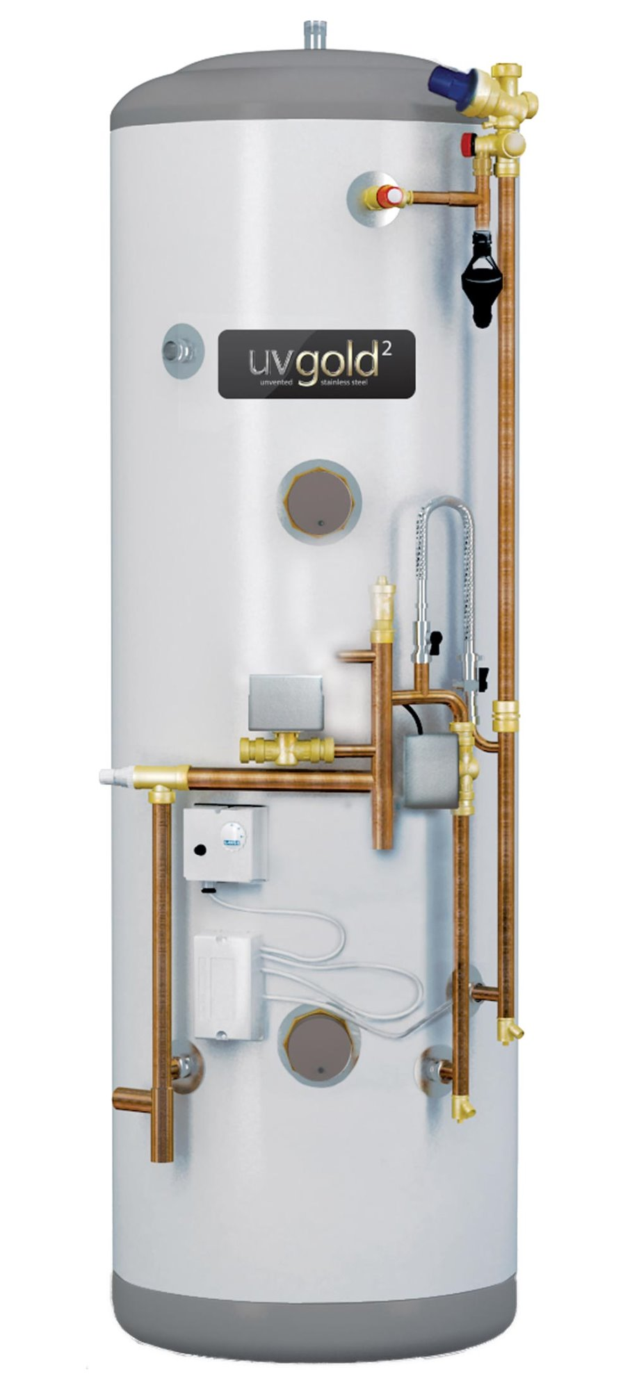 UVgold 2 Stainless | 250L System Fit | Unvented Hot Water Cylinder