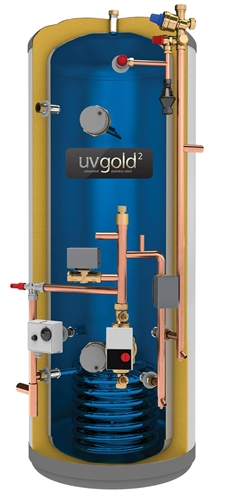 UV Gold2 UnVented 180Litre Pre-Plumb Cylinder