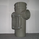 82MM ACCESS PIPE - SINGLE SOCKET (SOLVENT GREY)