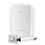 Worcester 25i Combi, Flue & Mechanical Clock