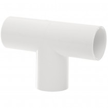 Overflow System Tee - 90 Degree Solvent White Push-Fit