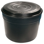 Polytank 25 Gallon  114 Litre Circular Cold Water Storage Tank 26x23 Includes PT2B Fittings Kit