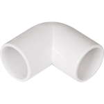 Polypipe Overflow System Knuckle Bend - 90 Degree Solvent White Push-Fit- NS45