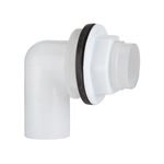 Polypipe Overflow System Reverso Tank Connector White Push-Fit- VP51