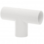 Polypipe Overflow System Tee - 90 Degree Solvent White Push-Fit- NS46
