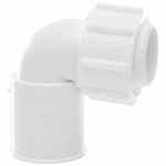 Polypipe Overflow System Bent Adaptor Solvent White Push-Fit- NS48